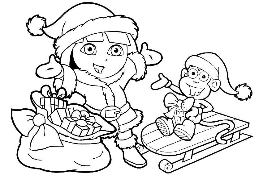 desenho de mamãe noel dora para colorir tudodesenhos