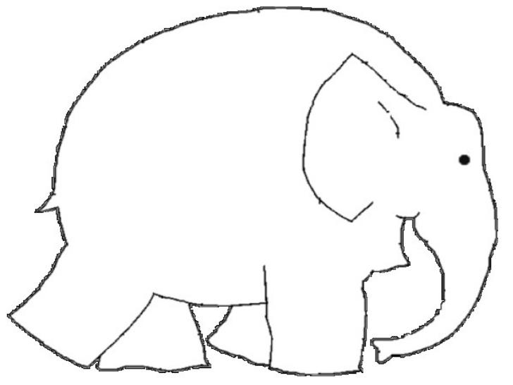 Vector Drawing Lines Worksheets : Desenho de elefante elmer para colorir tudodesenhos