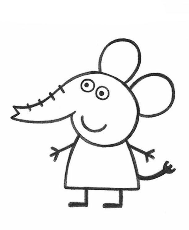Desenho de Emily amiga de Peppa