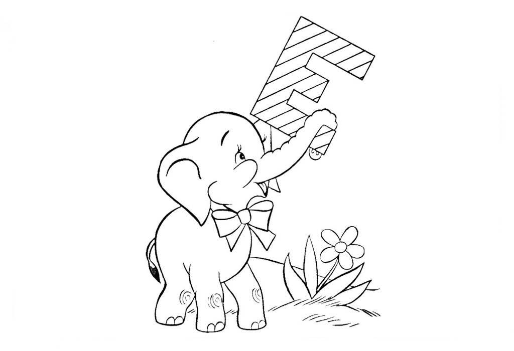 desenho de letra e de elefante para colorir tudodesenhos