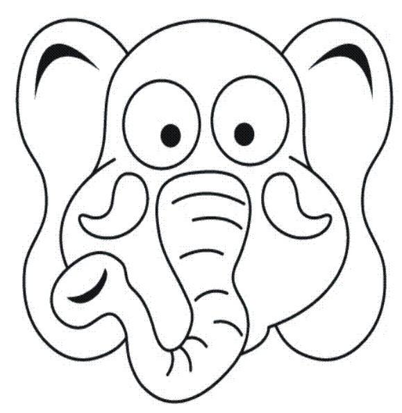 Desenho De Mascara De Elefante Para Colorir Tudodesenhos
