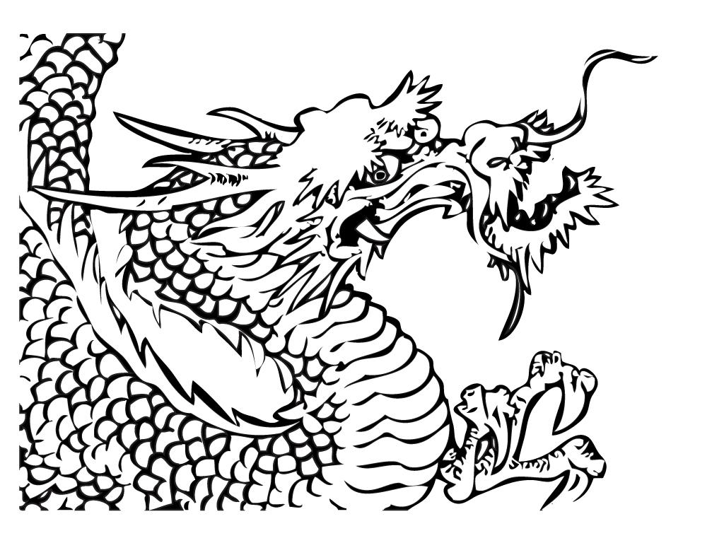 Desenho De Dragão Furioso Para Colorir