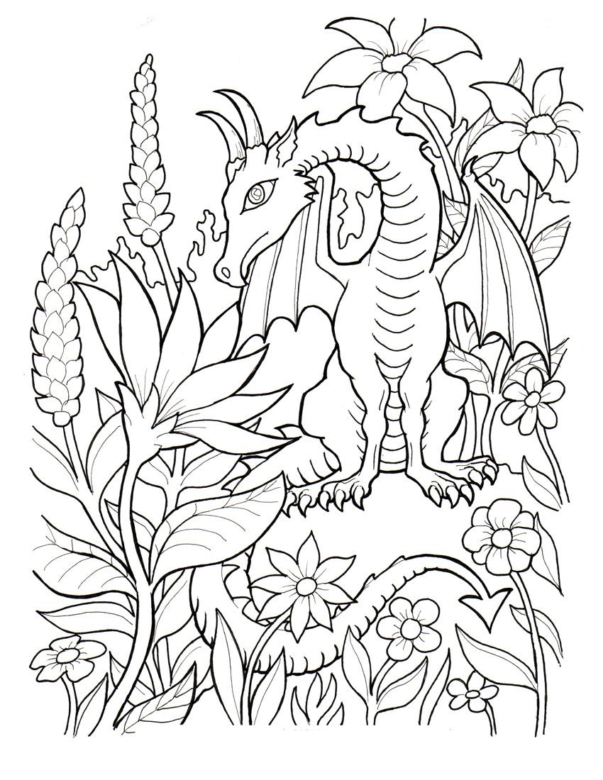 Desenho de Drag o na floresta para colorir Tudodesenhos