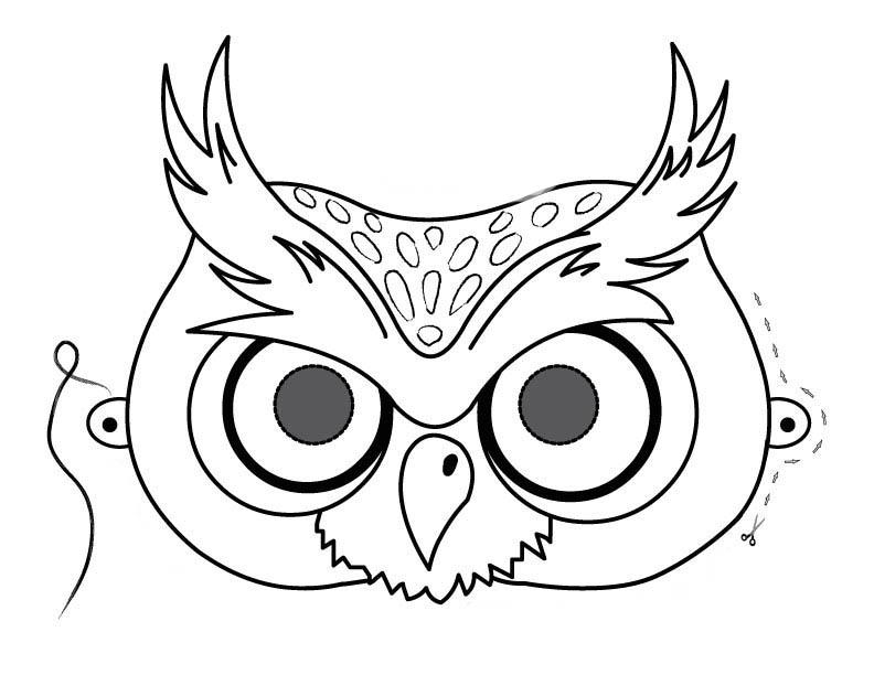 Desenho De Máscara De Coruja Para Colorir Tudodesenhos