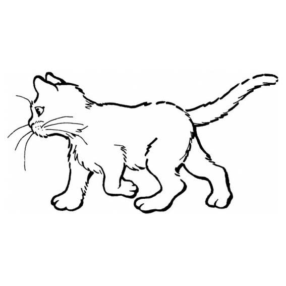 Desenho De Gato Caminhando Para Colorir
