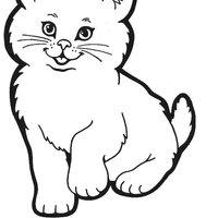 Desenho De Gato Fofo Para Colorir Tudodesenhos