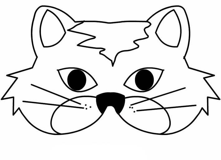Desenho De Máscara De Gato Para Colorir Tudodesenhos