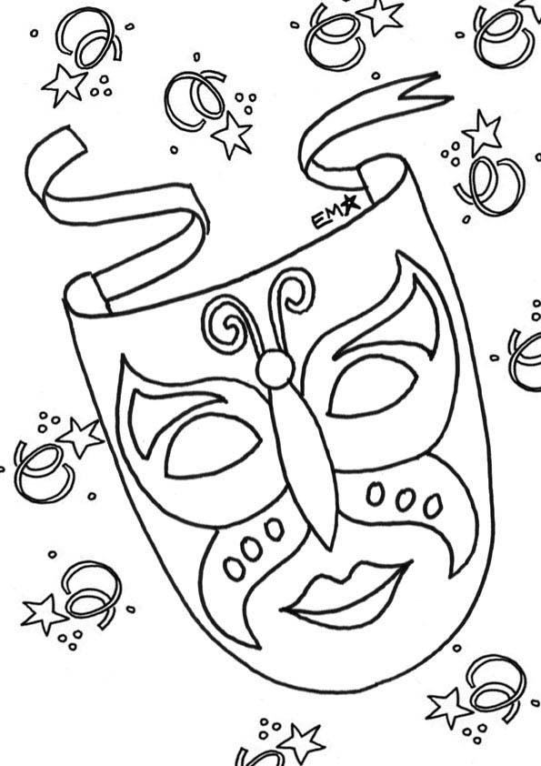 Desenho De Mascarilha De Carnaval Para Colorir Tudodesenhos