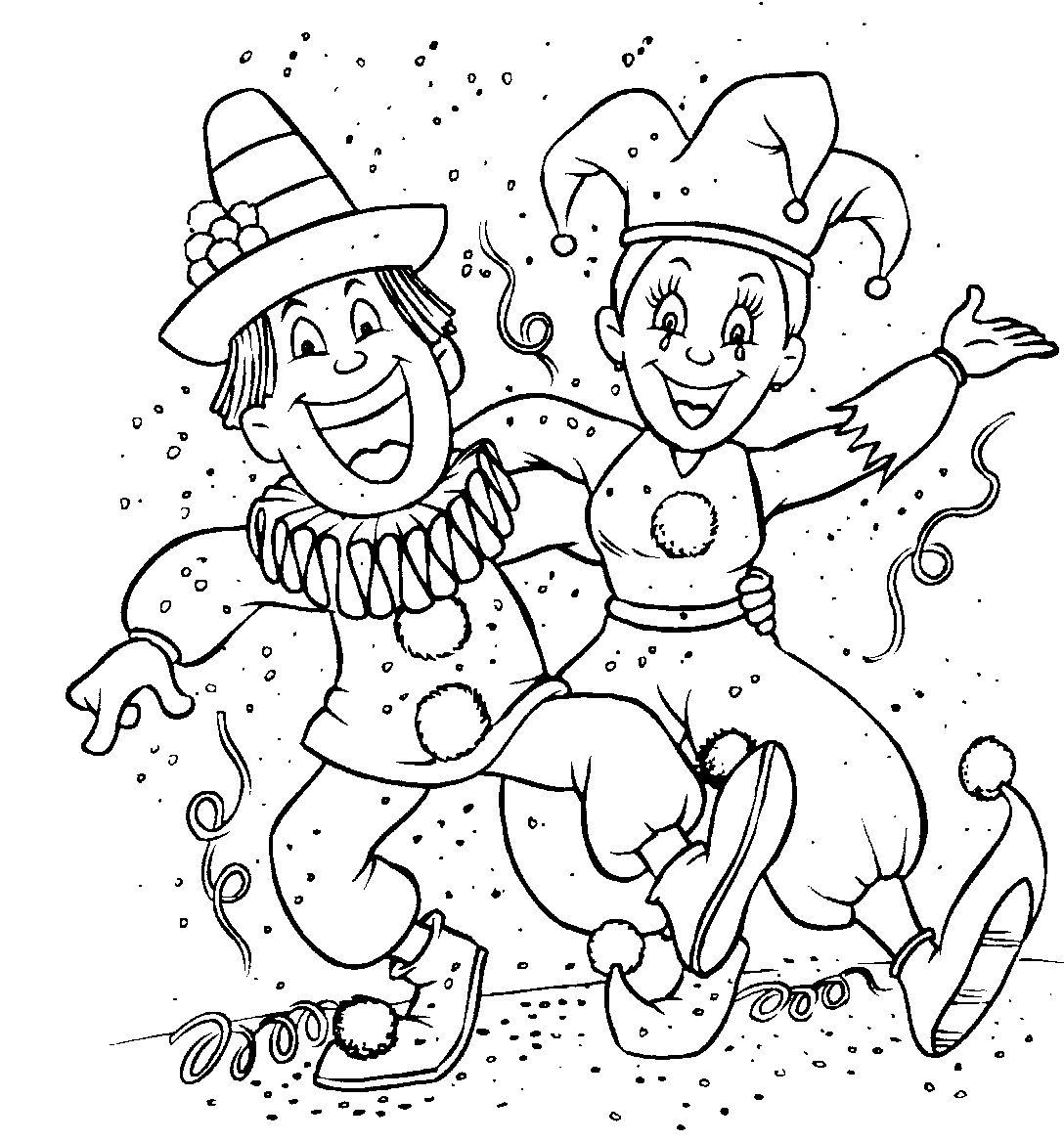 Desenho De Roupas De Carnaval Para Colorir Tudodesenhos
