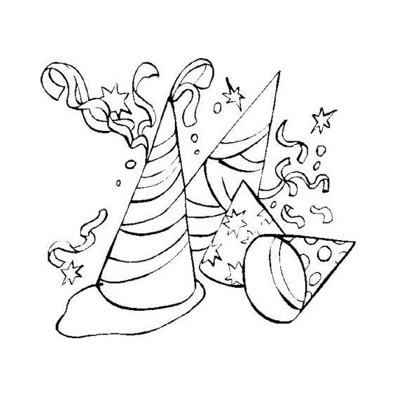 Desenho de Símbolos de carnaval para colorir - Tudodesenhos