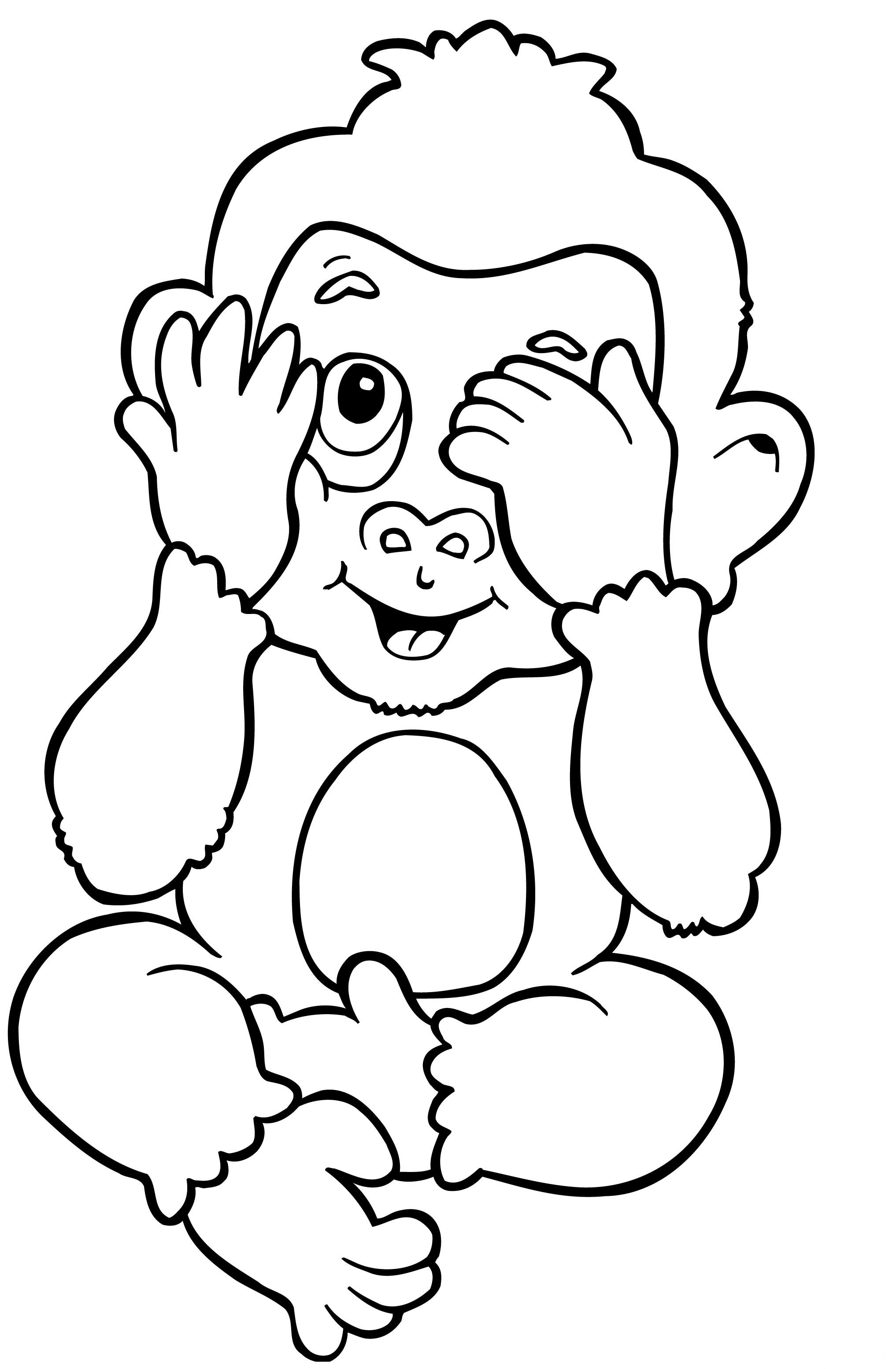 Desenho De Macaco Bebe Para Colorir Tudodesenhos