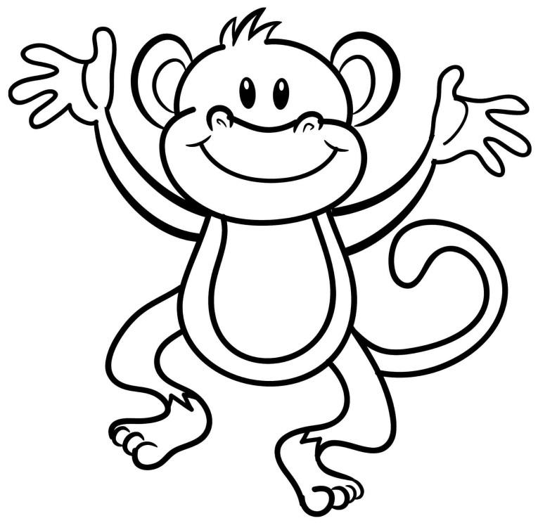 Desenho De Macaco Engraçado Para Colorir