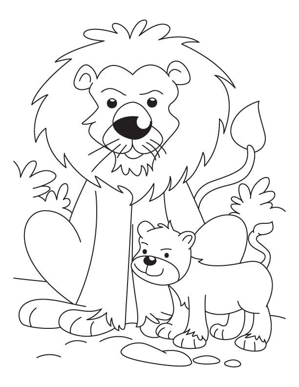 Desenho De Le 227 O E Filhote Para Colorir Tudodesenhos