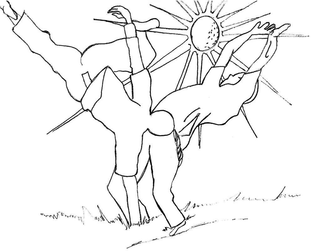 Desenho De Jogo De Capoeira Para Colorir Tudodesenhos