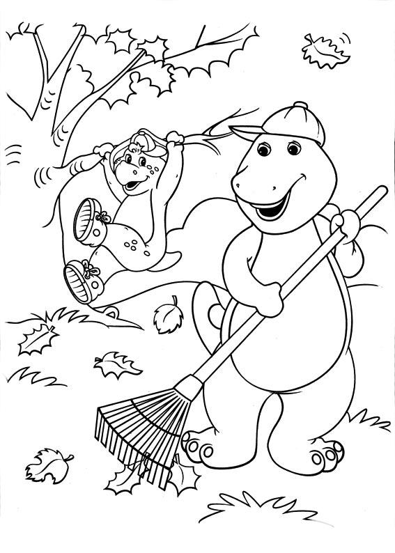 desenho de barney varrendo ch o para colorir tudodesenhos