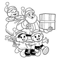 Desenhos De Natal Da Turma Da Monica Para Colorir Tudodesenhos