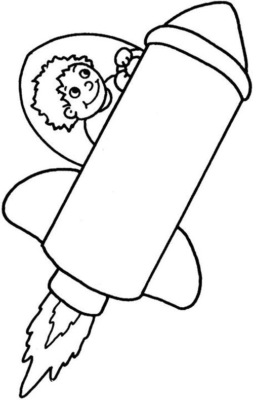 Desenho de menino no foguete para colorir tudodesenhos - Coloriage fusee ...