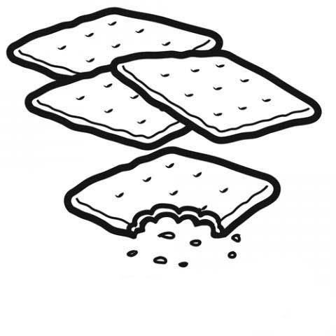Desenho De Biscoitos Cream Cracker Para Colorir Tudodesenhos