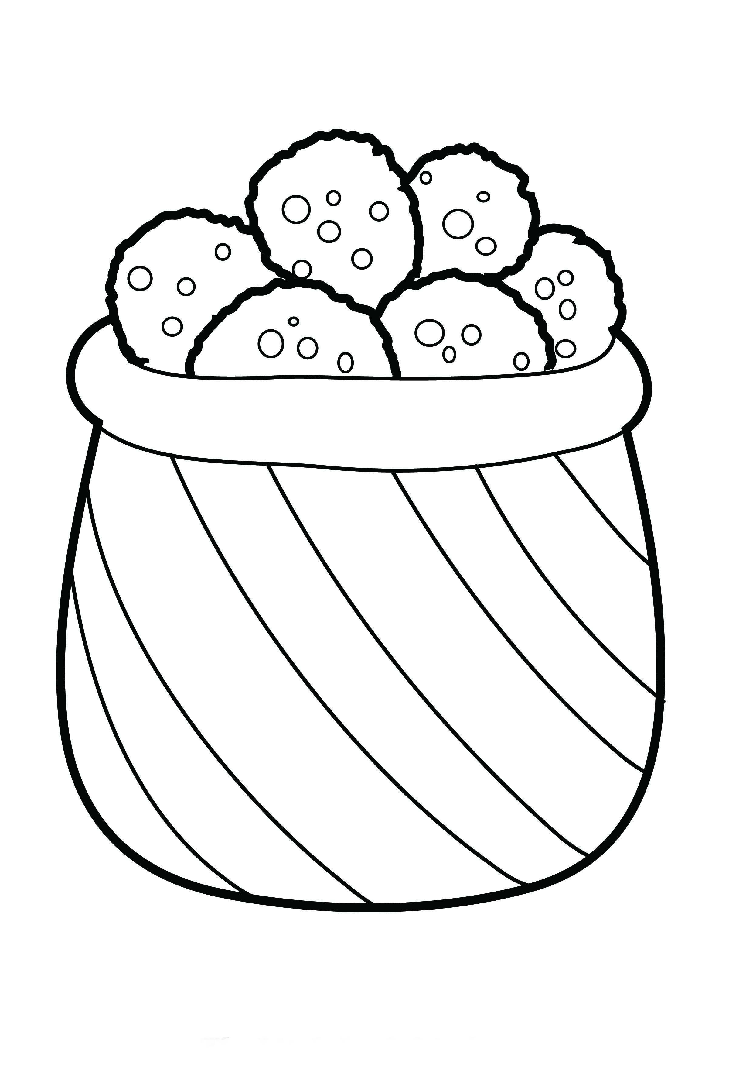 Desenho De Pote Cheio De Biscoitos Para Colorir Tudodesenhos