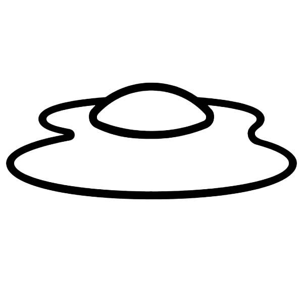 desenho de ovo frito para colorir tudodesenhos