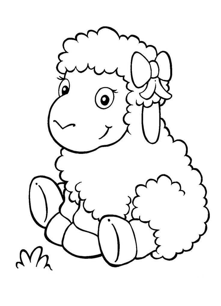 Desenho de ovelha beb para colorir tudodesenhos for Make a picture a coloring page