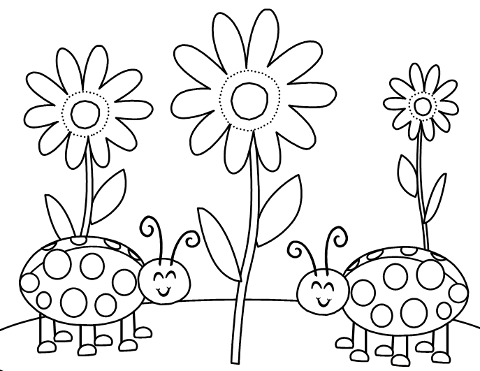 garden bugs coloring pages - photo#26