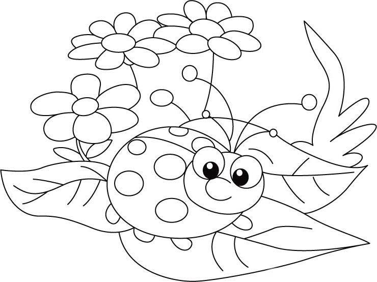 Desenho de joaninha na floresta para colorir tudodesenhos for Ladybug coloring pages for preschoolers