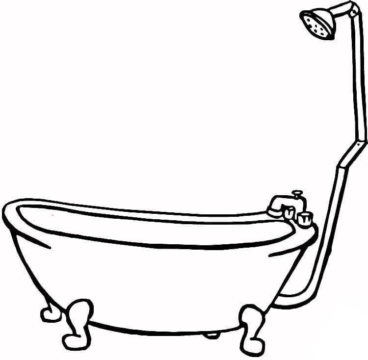 desenho de banheira para colorir   tudodesenhos