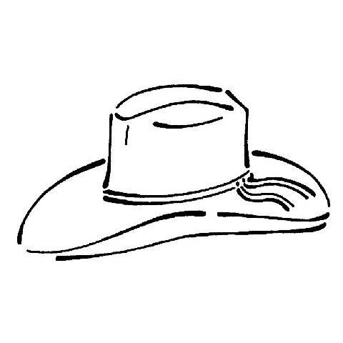 Desenho de Chapéu de cowboy para colorir - Tudodesenhos 555e2c82c2f