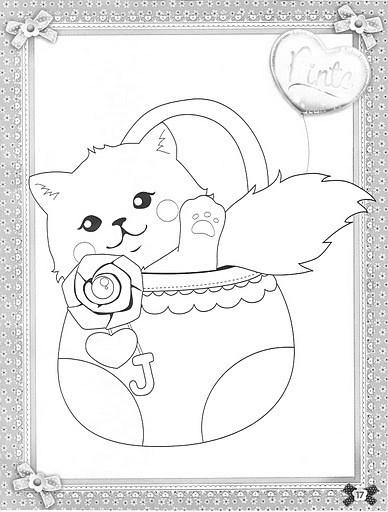 desenho de boneca jolie com capuz de ursinho para colorir tudodesenhos