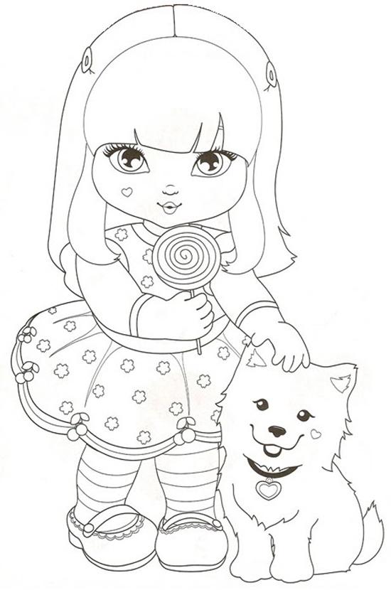 Desenho De Julia Chupando Pirulito Para Colorir Tudodesenhos