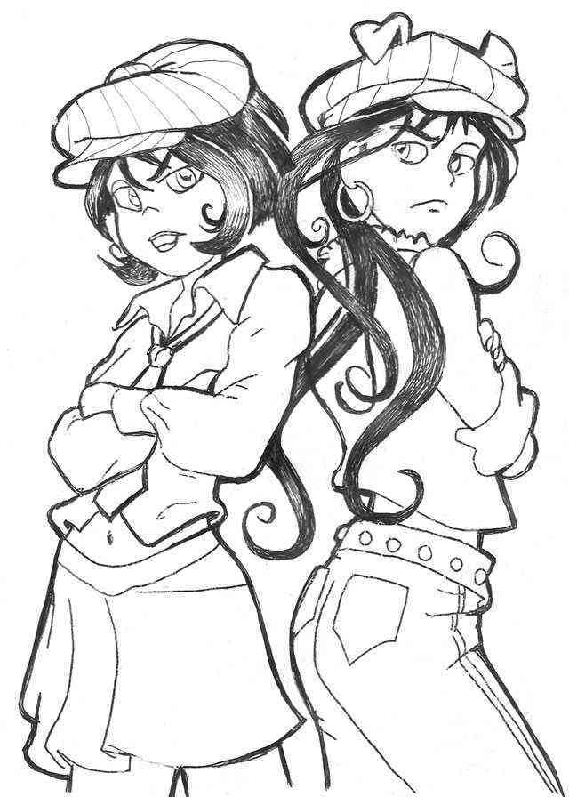 Desenho De Monica E Magali Jovem Para Colorir Tudodesenhos