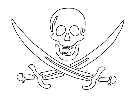 Desenho De Caveira De Pirata Para Colorir