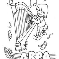 desenho de rei davi tocando arpa para colorir tudodesenhos