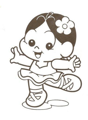 Desenho De Magali Baby Bailarina Para Colorir Tudodesenhos