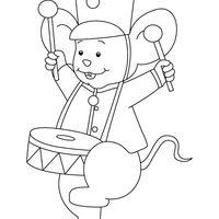 desenho de ratinhos levantando chave para colorir   tudodesenhos