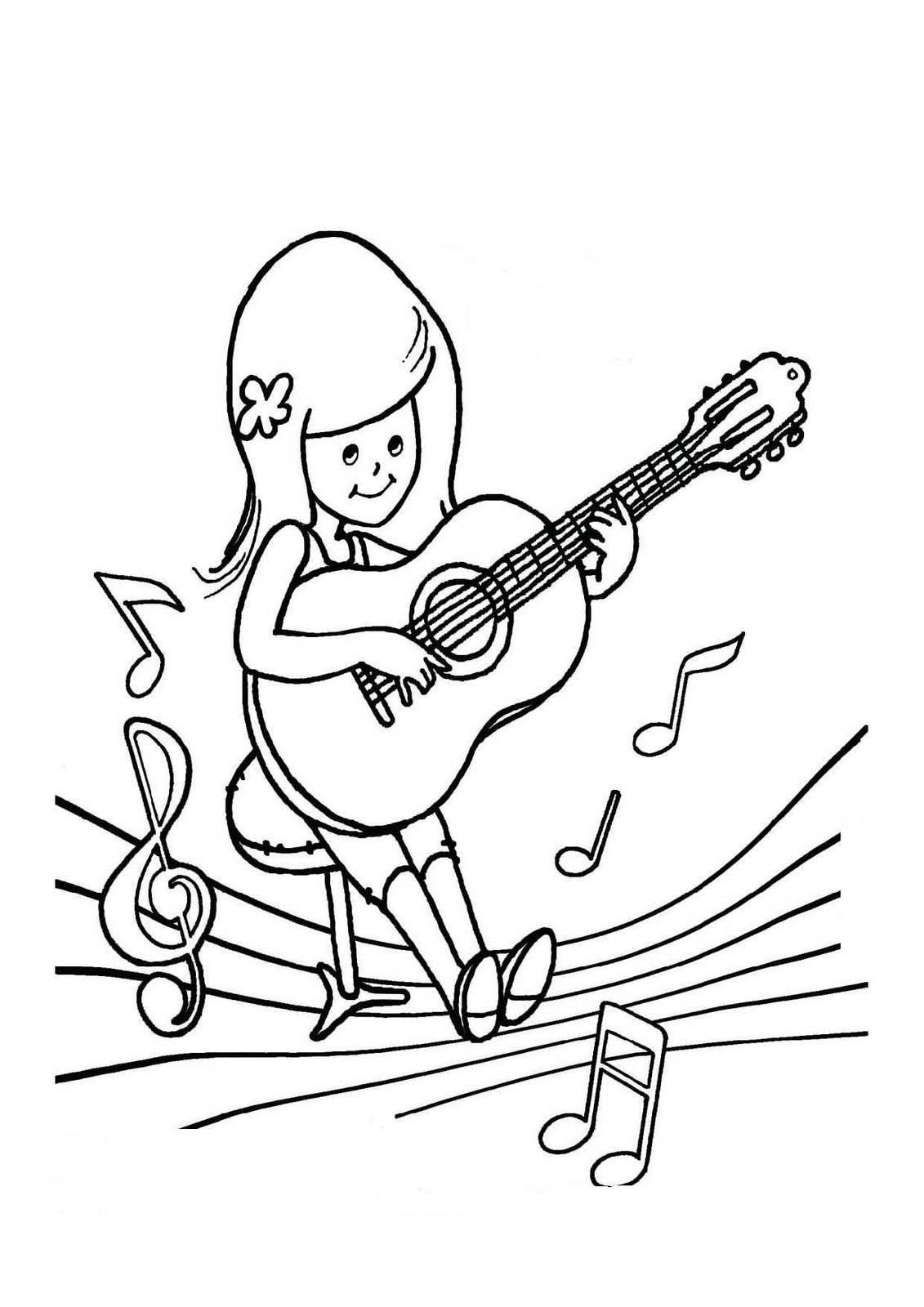 desenho de menina fazendo show para colorir tudodesenhos