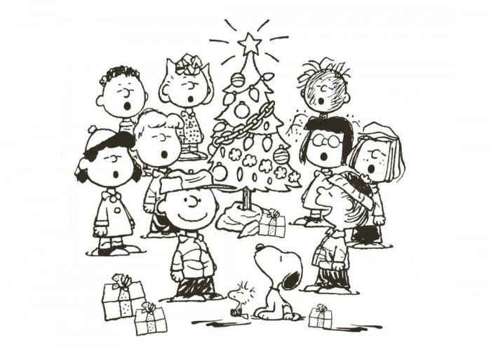 Desenho De Natal Da Turma Do Snoopy Para Colorir Tudodesenhos