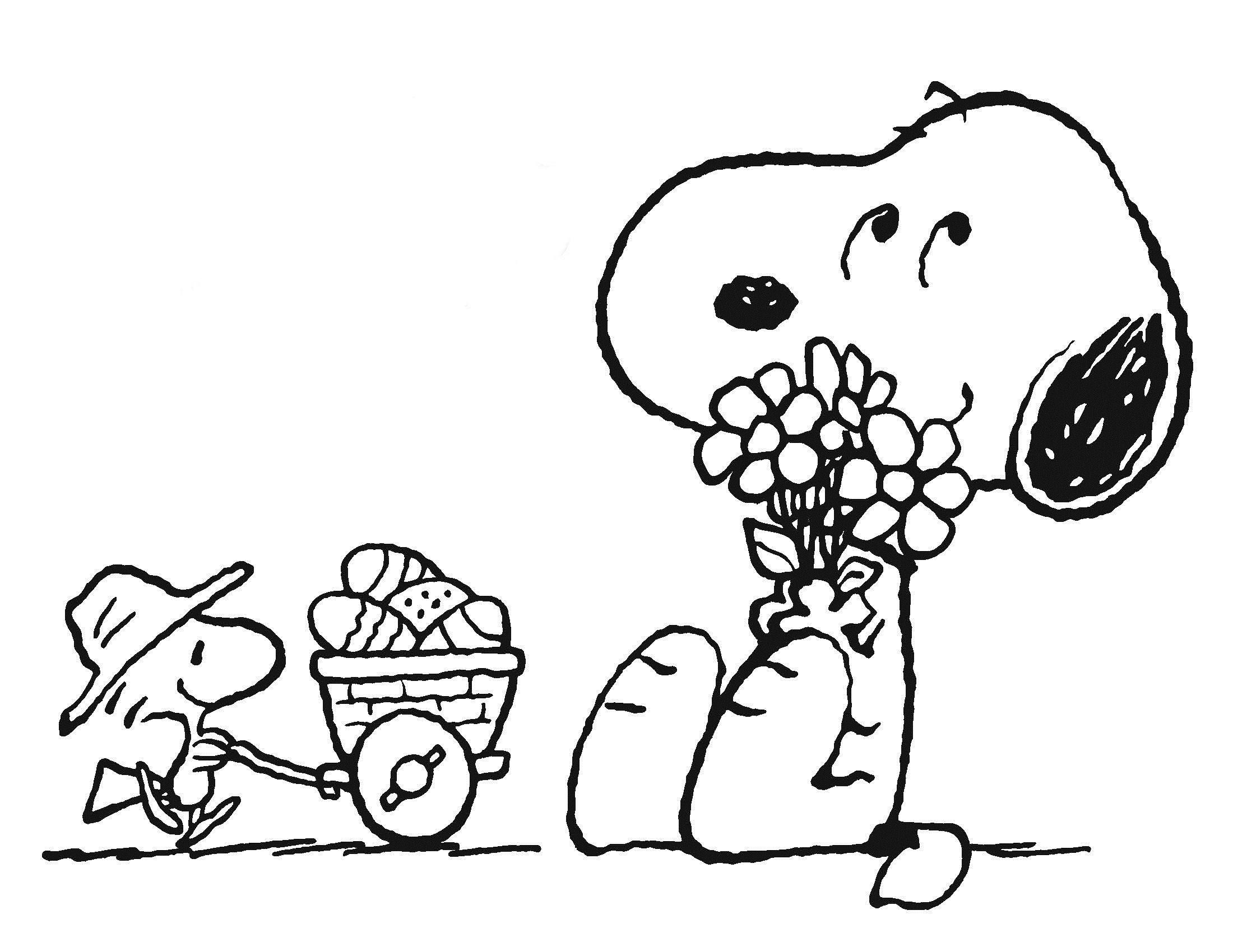 Desenho De Pascoa Do Snoopy Para Colorir Tudodesenhos