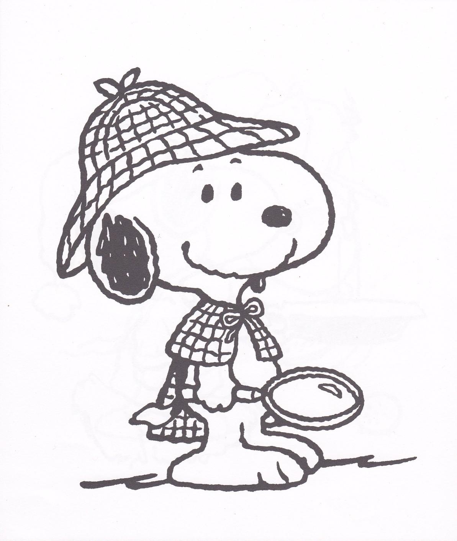 Desenho De Snoopy Detetive Para Colorir