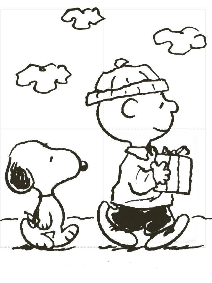 Desenho De Snoopy E Charlie Brown Para Colorir Tudodesenhos