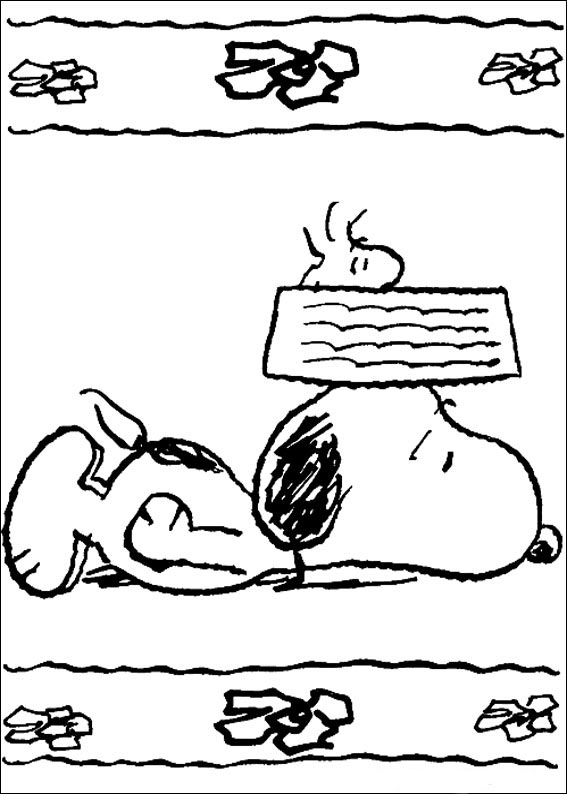 Desenho De Snoopy E Woodstock Deitados Para Colorir Tudodesenhos