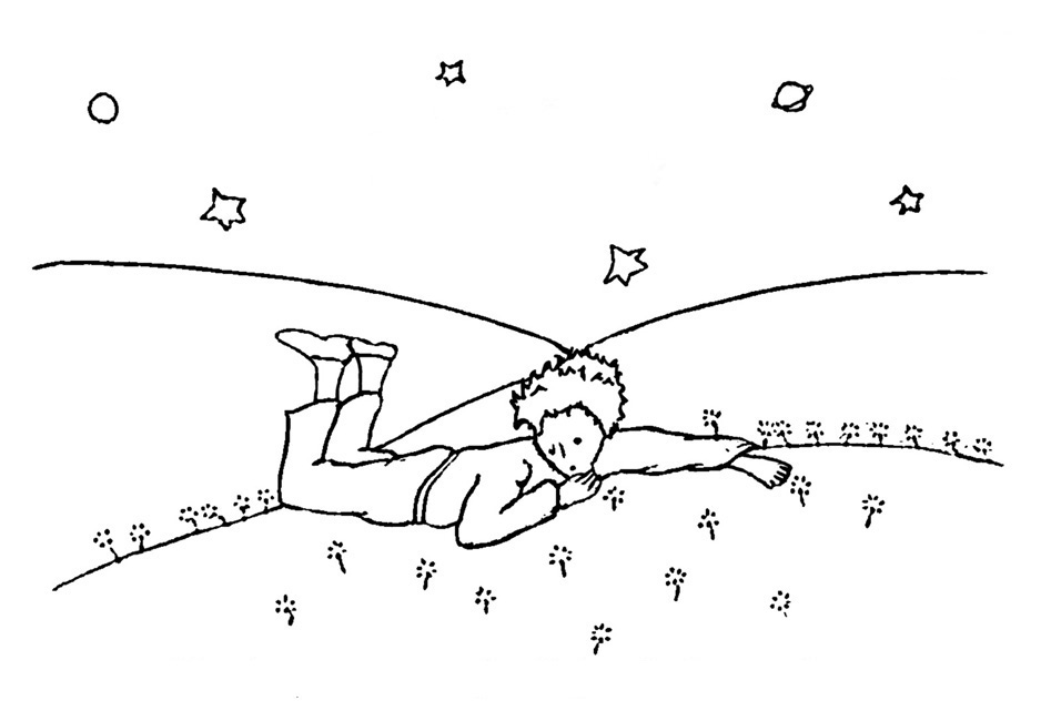 Desenhos Para Colorir Principe: Desenho Do Pequeno Principe Para Imprimir HO16