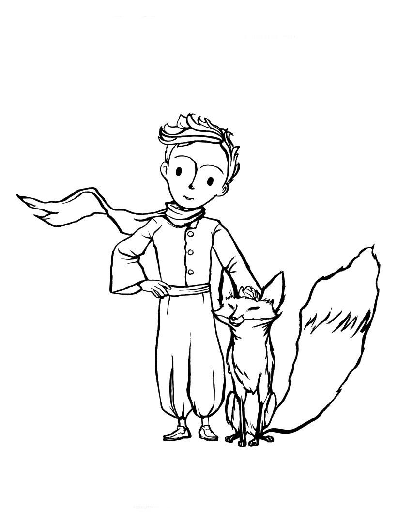 Desenho de pequeno pr ncipe e raposa para colorir tudodesenhos - Coloriage renard petit prince ...