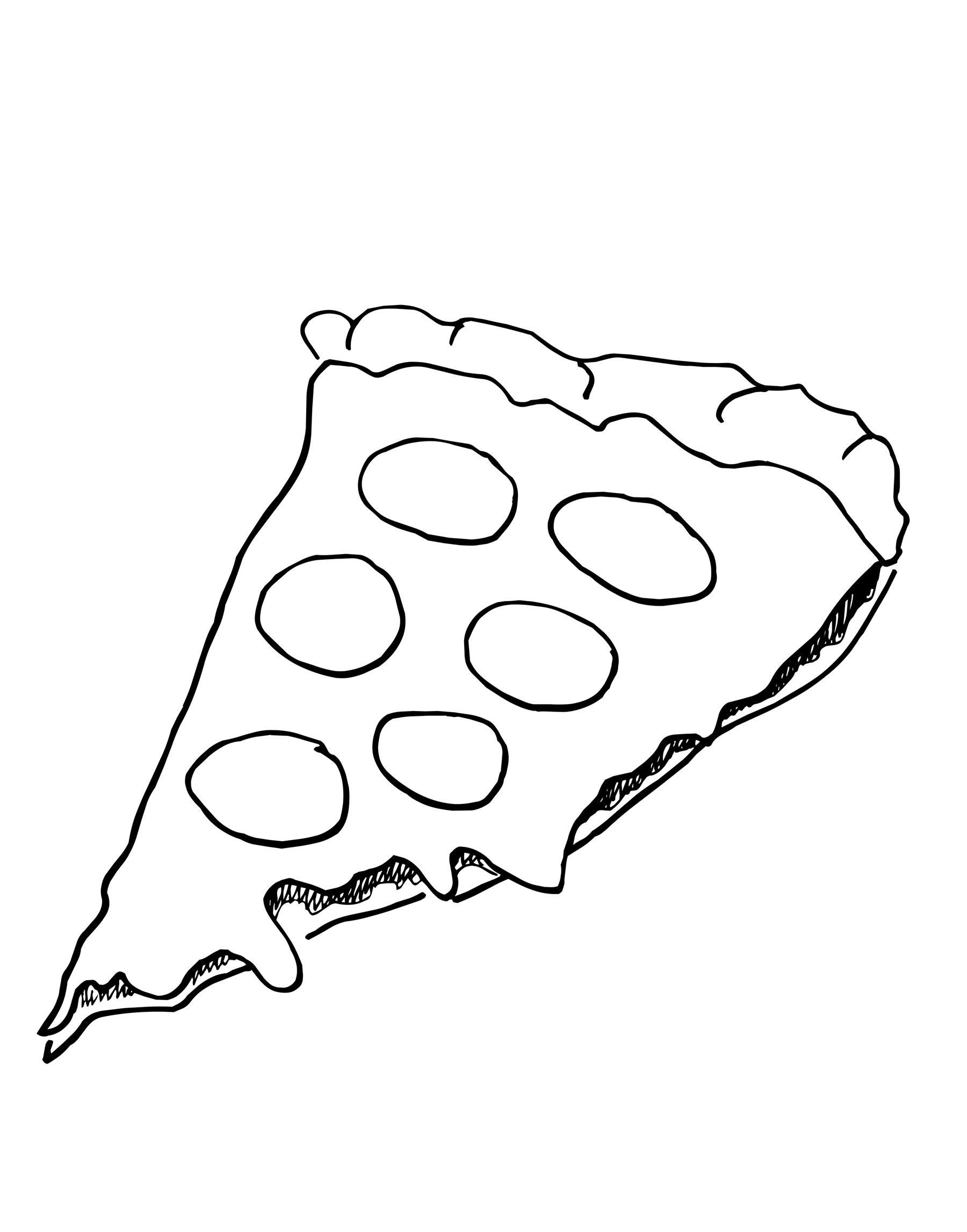 desenho de pedaço de pizza para colorir tudodesenhos