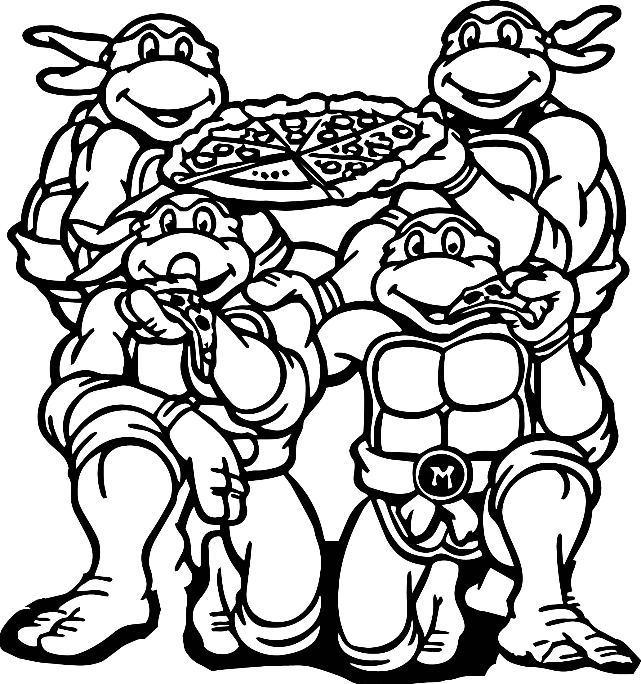 tmnt coloring pages michelangelo printable design. michelangelo ...