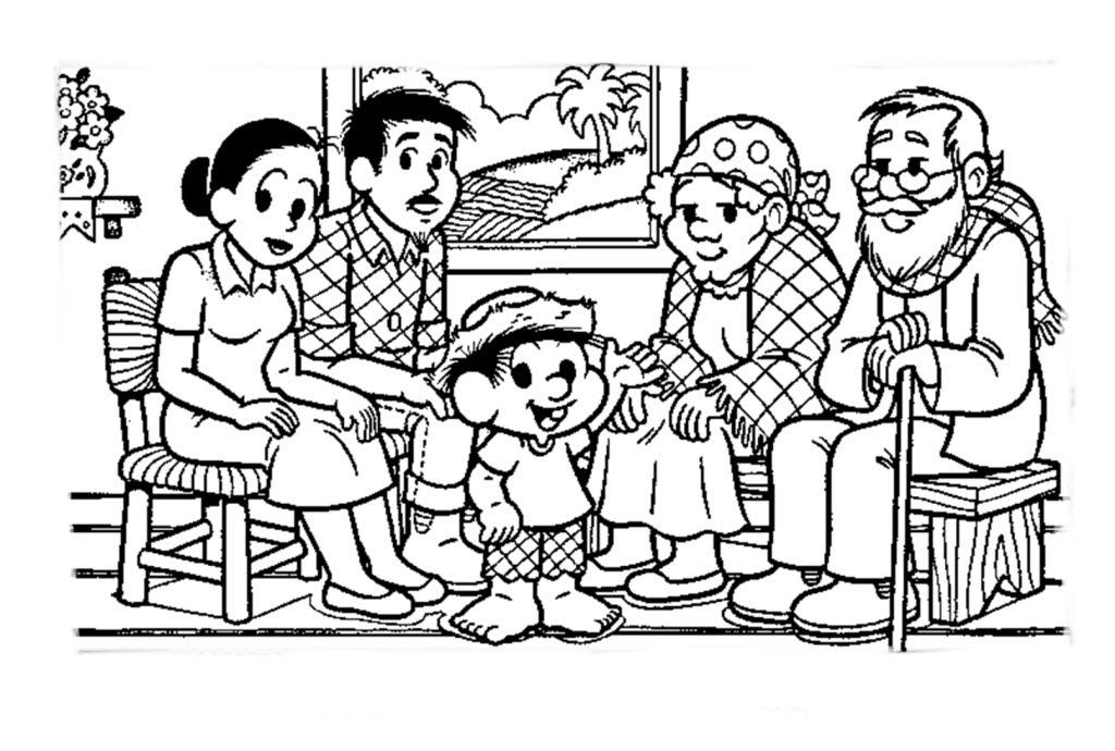 Desenho de Família do Chico Bento para colorir - Tudodesenhos