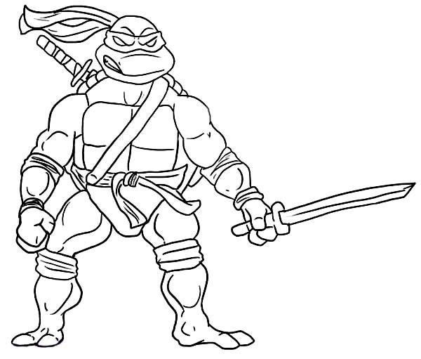 Desenho De Leonardo Atacando Para Colorir Tudodesenhos