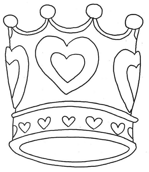 Desenho De Coroa De Rainha Para Colorir Tudodesenhos