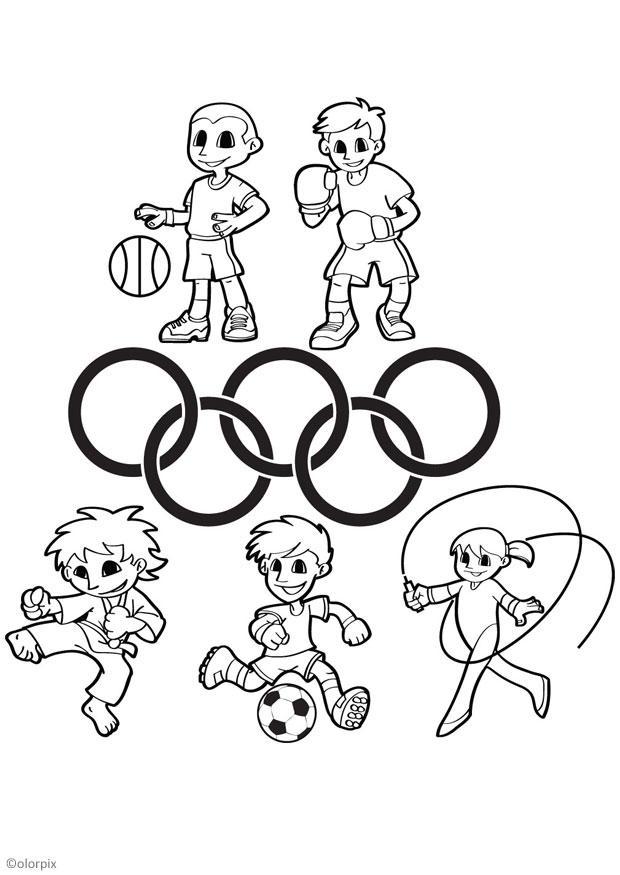 Desenho De Jogos Olimpicos Para Criancas Para Colorir Tudodesenhos